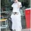 Ruffle Dress Lady Ribbon ขายเดรสยาว thumbnail 2