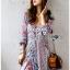 Modern Bohemian Floral Printed Lady Maxi Dress thumbnail 2