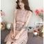 Mini Dress มินิเดรสสั้นผ้าลูกไม้สีชมพูอ่อน thumbnail 7