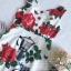 ผ้าเครปพิมพ์ลายดอกกุหลาบสีแดง thumbnail 9