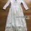 White Cotton Dress เดรสผ้าคอตตอนสีขาว thumbnail 6