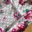เดรสพิมพ์ลายดอกไม้สีชมพูตกแต่งระบาย thumbnail 8