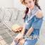 เดรสยีนส์สวยเก๋ลุคสาวเกาหลี ดีเทลเดรสเนื้อผ้าสียีน thumbnail 5