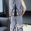 ผ้าคอตตอนทอลายริ้วสีกรม thumbnail 2