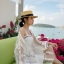 เดรสเสื้อคลุมเกาหลีผ้าลูกไม้สีขาว thumbnail 1