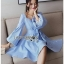 Baby Blue Mini Dress with Ribbon thumbnail 2
