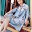 Lady Leslie Vivid Blue Printed Bow Dress thumbnail 6