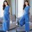 งานเกาหลีผ้าพื้นสีฟ้าเนื้อนุ่มเสื้อทรงคอกลมแขนกุด thumbnail 4
