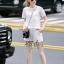 เสื้อกางเกงผ้า polyester สีขาว thumbnail 4