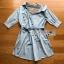 Cotton Shirt Dress Lady Ribbon ขายเชิ้ตเดรส thumbnail 7