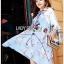Lady Leslie Vivid Blue Printed Bow Dress thumbnail 3