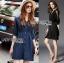 Lady Natalie Minimal Organza and Denim Cotton Shirt Dress thumbnail 1