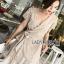 Star Velvet Ruffle Lady Ribbon Dress thumbnail 4