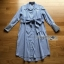 Grey Striped Lady Ribbon Shirt Dress thumbnail 7