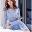 Lady Jennifer Sexy Chic Striped Shirt Dress thumbnail 4