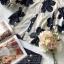 ผ้าชีฟองพิมพ์ลายดอกไม้ใหญ่สีน้ำเงิน thumbnail 8