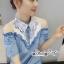 เดรสยีนส์สวยเก๋ลุคสาวเกาหลี ดีเทลเดรสเนื้อผ้าสียีน thumbnail 8