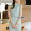 Chic Minty Lady Ribbon Lace Dress thumbnail 5
