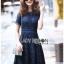 Lace Dress เดรสผ้าลูกไม้สีน้ำเงินเข้มทรงเบสิก thumbnail 3