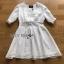 Holiday White Cotton Dress thumbnail 7