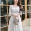 Chiffon Dress Lady Ribbon ขาย เดรสผ้าชีฟอง thumbnail 4