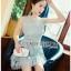 Ruffle Grey Lady Ribbon Lace Dress thumbnail 1