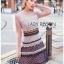 Layered Lace Lady Ribbon Mini Dress thumbnail 3