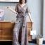 เซตเสื้อ+กางเกง ดีไซน์เสื้อคอป้ายแขนระบาย thumbnail 4