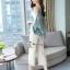 เซ็ทเสื้อ+กางเกงเกาหลีเสื้อผ้าไหมซาติน thumbnail 4