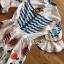 Printed Ruffle-Sleeve Dress เดรสผ้าเครป thumbnail 7