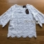 White Cotton Blouse Lady Ribbon ขายผ้าคอตตอนสีขาว thumbnail 7