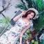 ชุดเดรสดอกเกาหลีผ้าจอร์เจียร์ thumbnail 6