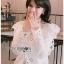 Laser-Cut Cotton Blouse เสื้อผ้าคอตตอนสีขาว thumbnail 2