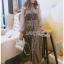 Star Printed Velvet Lady Ribbon Dress thumbnail 2