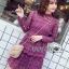 Lace Dress เดรสผ้าลูกไม้สีชมพูฟูเชีย thumbnail 2