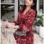 Lady Red Monica Floral Patterned Printed Wrap Dress thumbnail 1