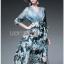 Lady Danielle Feminine Elegant Floral Printed Polyester Dress thumbnail 1