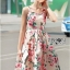 Lady Amy Rose Blossom Printed Crepe Dress thumbnail 4