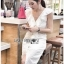 Elegant Middle Lady Ribbon Cotton Dress thumbnail 2
