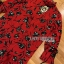Lady Floral Printed Red Pleated Dress thumbnail 5