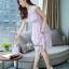 ชุดเดรสลูกไม้เกาหลี เดรสแขนกุดอกระบาย thumbnail 5
