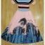 ผ้าไหมสีฟ้าทอลายริ้วสีชมพูตัดดำสวย thumbnail 7