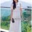 Lady Ribbon Laser-Cut White Cotton Dress thumbnail 3