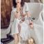 White Dress Lady Ribbon เดรสสีขาวสไตล์อินเดีย thumbnail 3