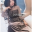 Star Printed Velvet Lady Ribbon Dress thumbnail 4
