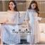 เดรสเกาหลีชุดสีขาวทรงคอกลมซีทรูช่วงอก thumbnail 3