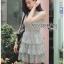 Grey Lace Dress Lady Ribbon ขายเดรส thumbnail 4