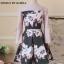 เสื้อผ้าสวย Mini dress คอกลม แขนห้าส่วน thumbnail 5
