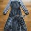 Star Printed Velvet Lady Ribbon Dress thumbnail 8