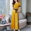เซ็ทเสื้อ+ผ้าริบบิ้น+กางเกงงานเกาหลีผ้าสีพื้น thumbnail 3